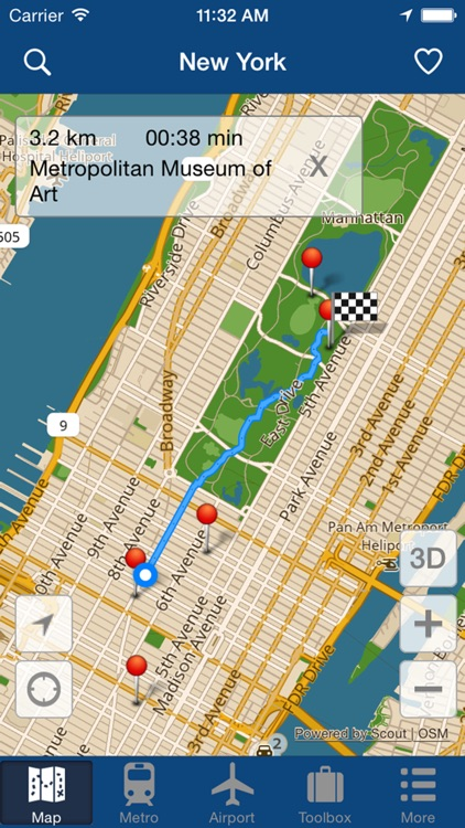 New York Offline Map - City Metro Airport with Travel Trip Planner screenshot-4