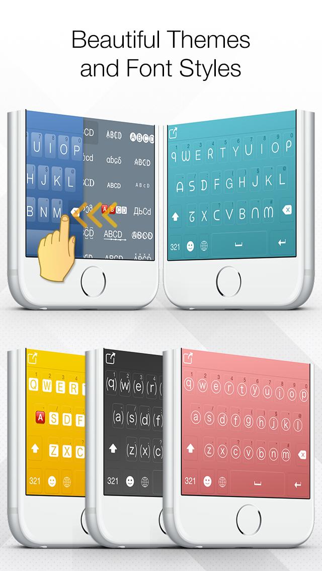 XpressKey - New Emoji + Colorful Themes + Cool Fonts Keyboard Screenshot