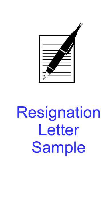 Resignation Letter Sample - Templates and Examples of Job Resignation Letters screenshot one