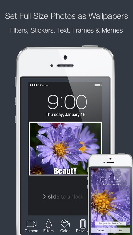 Wallpaper Fix - Fit your Home & Lock.screen Images with Filters, Frames, Stickers & Many More!