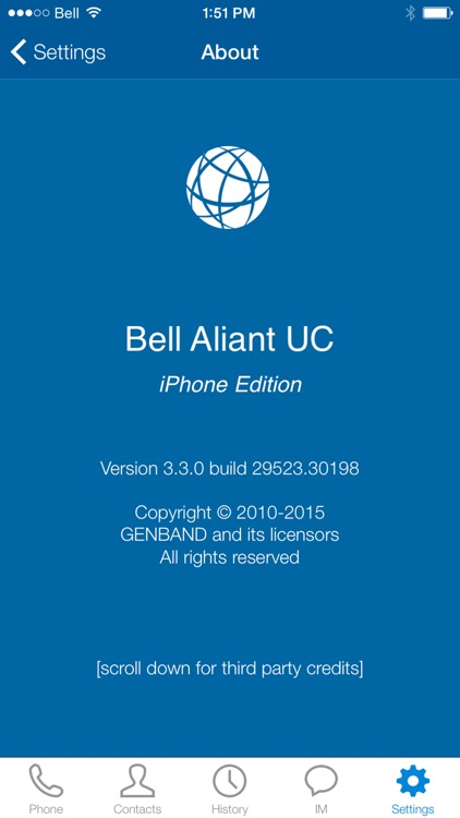 Bell Aliant Unified Communications for iPhone screenshot-4