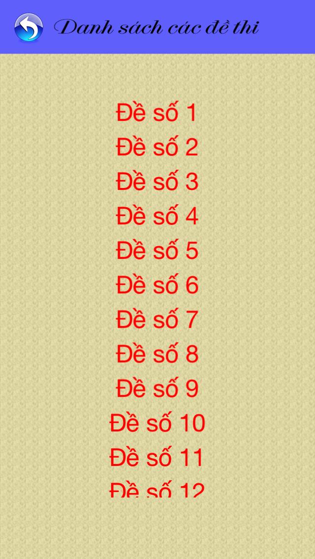 download Thi sát hạch GPLX-15 đề - 450 câu apps 2
