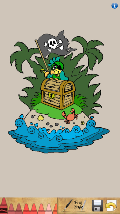 Пиратская Книжка-раскраска! для iPhone и iPad скачать ...