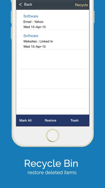 aMemoryJog FREE Password Vault & Sensitive Passcodes Login Form Autofill Tool screenshot-3
