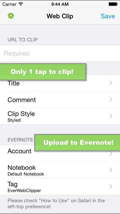 Screenshot #1 pour EverWebClipper for Evernote - Clip Web Pages