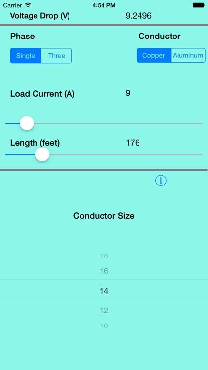 Voltage Drop Calculator App