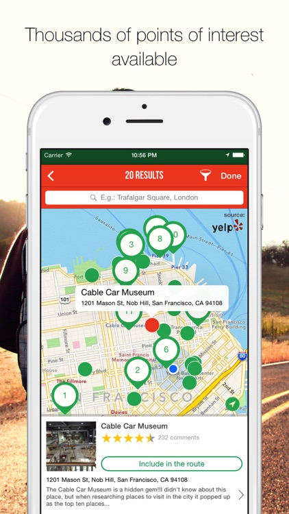 MyTRIPS - Route planner, trip organizer, offline maps, city guides screenshot-3