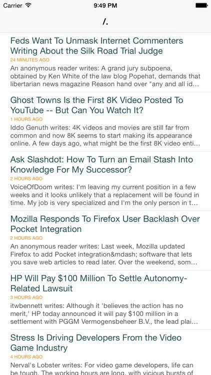 Slashdot reader