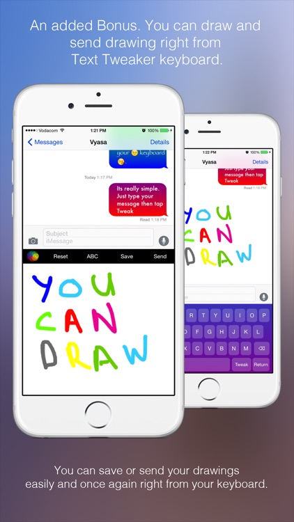 Text Tweaker Keyboard Free - Create Cool Color Message Bubbles with fancy fonts, emoji and theme maker screenshot-4