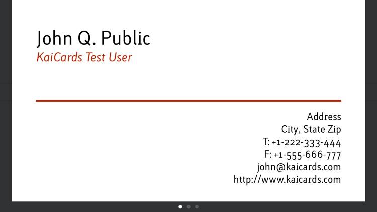 KaiCards - business card maker screenshot-3