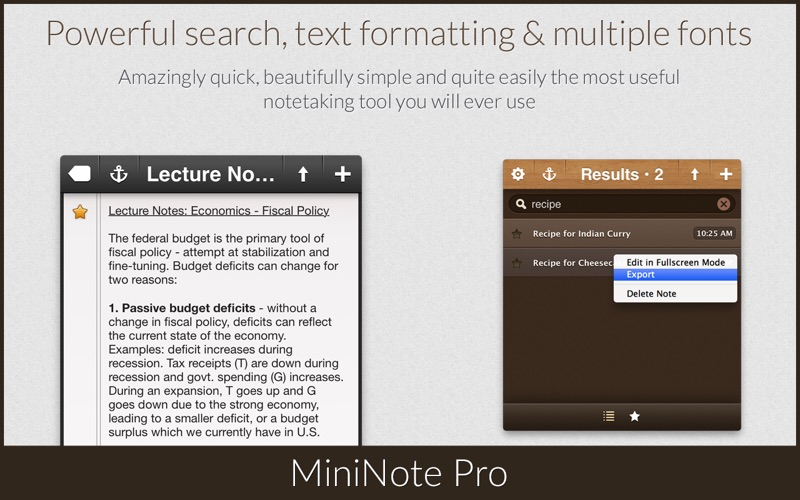 MiniNote Pro Screenshot 3