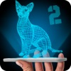 Hologram Cat 2 3D Simulator