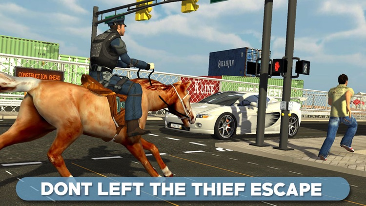 Police Horse Chase 3D - Sheriff Arrest the Thief & Robbers to Control the Town Crime Rate screenshot-3