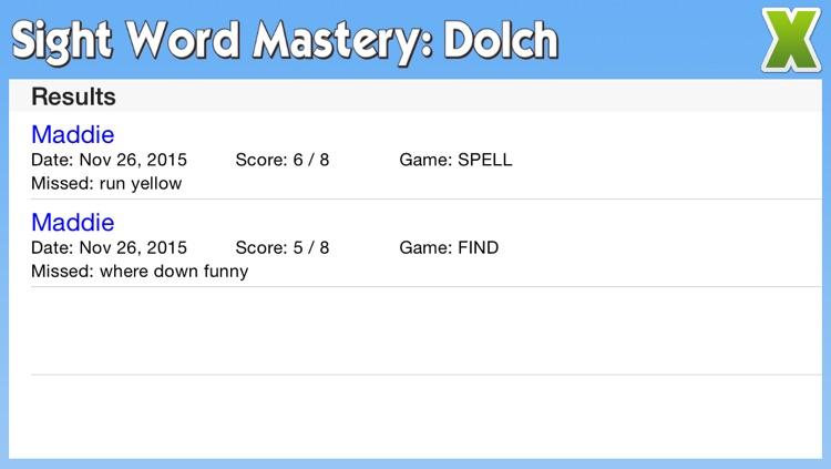 Sight Word Mastery: Dolch screenshot-4