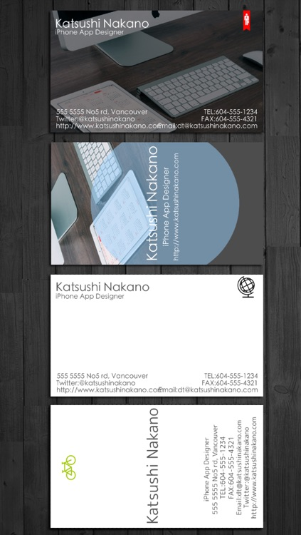 BusinessCardDesigner - Business Card Maker with AirPrint