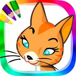 Coloring cats and kittens - drawings to paint