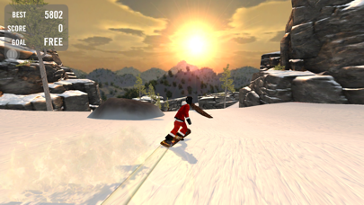 Screenshot from Crazy Snowboard Free