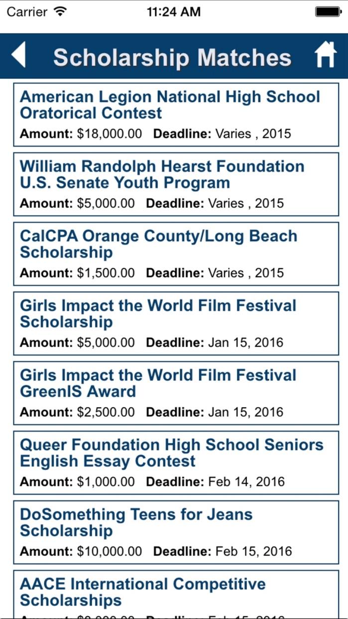 Scholarships.com Screenshot