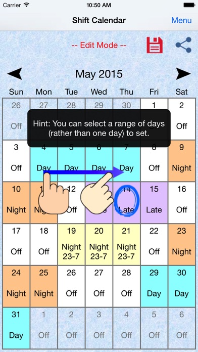 Download Shift Calendar / Schedule for Pc