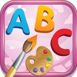ABC Alphabet Coloring Page Drawing with Cute Animal