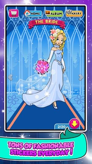 Princess Sticker Salon Game - frozen make-up wedding & dress up girl ...