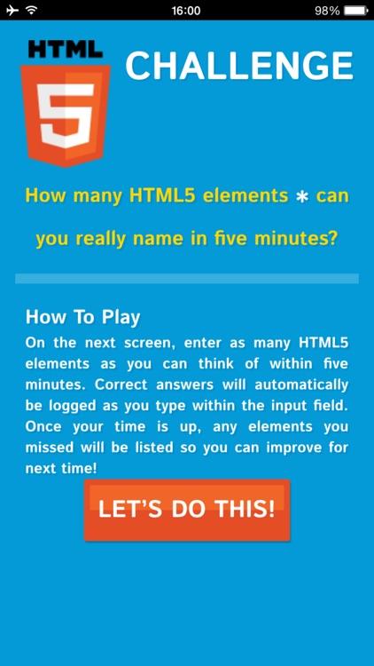 HTML5 Challenge
