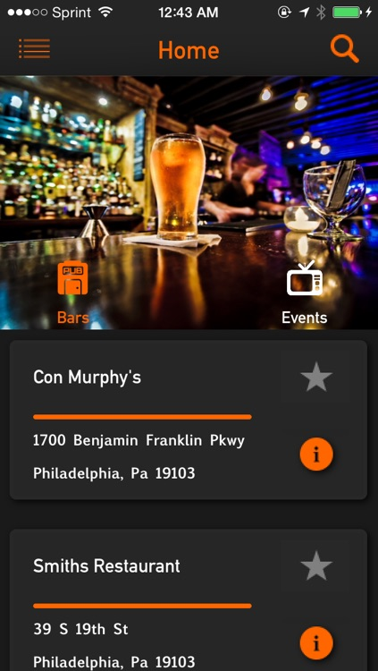 """Digital Helmet - Sports Bar Finder  """"Find Sports Bars By The Games They Show"""""""