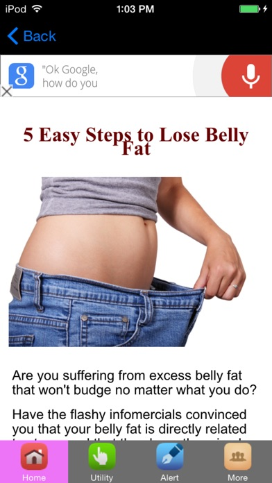 How To Lose Fat & Get Fit Fast screenshot one