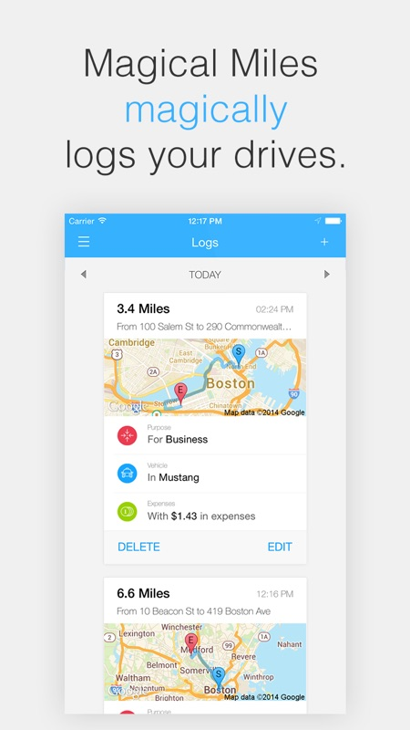 magical miles automatic mileage log and auto mile tracker for