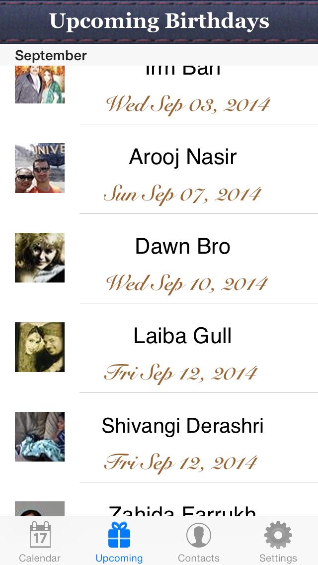 Birthday Reminder & Calendar+ screenshot two