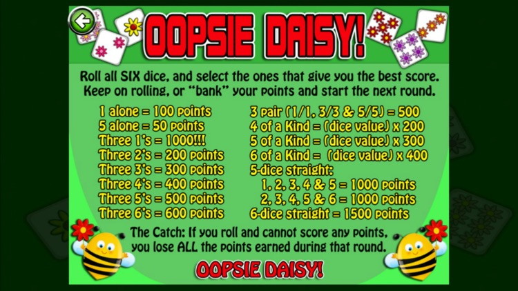 Oopsie Daisy Free Dice Game
