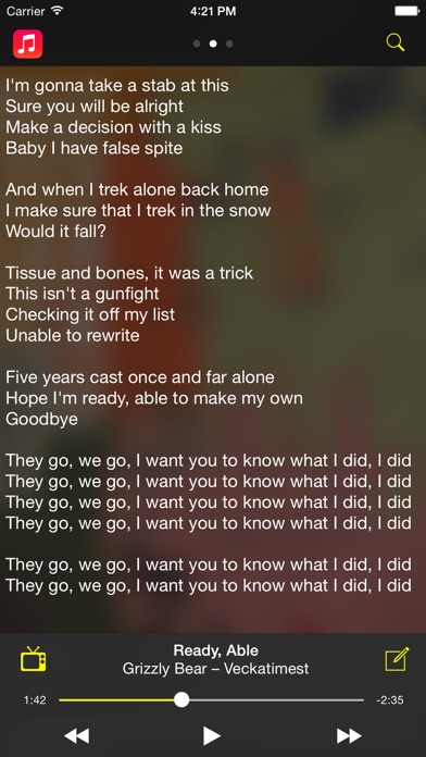 Screenshot for Camena - Song Lyrics in Chile App Store