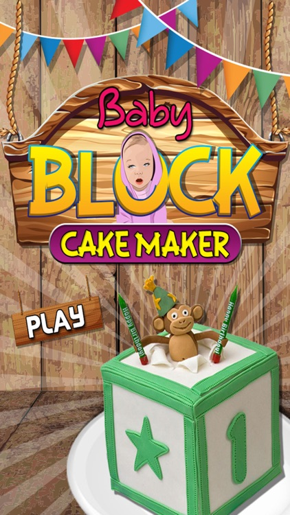 Baby Block Cake Maker - Make a cake with crazy chef bakery in this kids cooking game screenshot-0