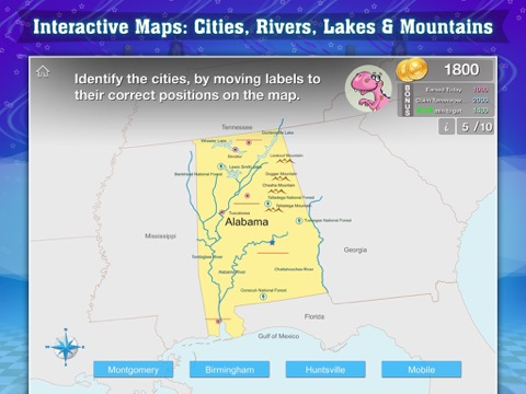 Geography of the United States of America: Map Learning and Quiz ...