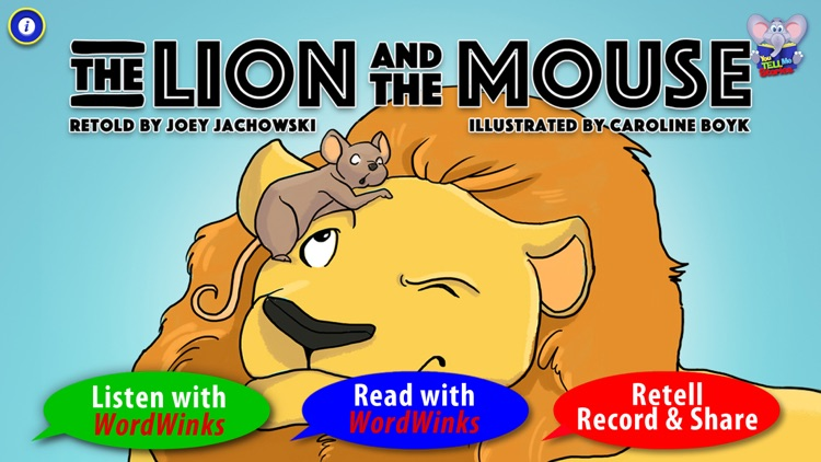 The Lion and the Mouse with WordWinks and Retell, Record & Share