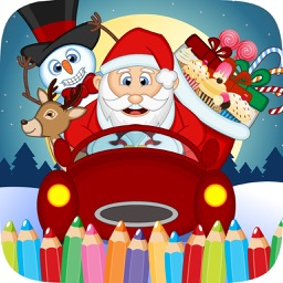 Christmast Colorbook Educational Coloring Game for Kids