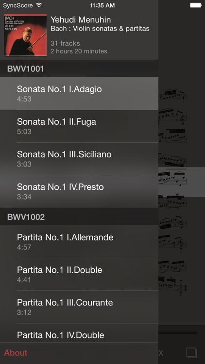 Bach Violin Sonatas & Partitas screenshot-2