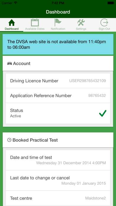 UK Driving Test Cancellations screenshot one