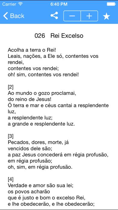 Hinário Cantor Cristão JMC screenshot three