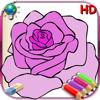 Livro de colorir para as meninas para iPad com lápis de cor - 36 páginas para colorir com princesas, fadas, cavalos e muito mais - HD
