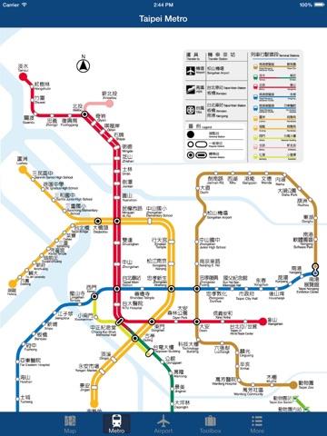 Taipei fline Map City Metro Airport