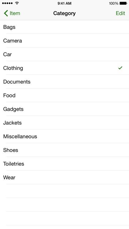 Pack - Simple Packing List screenshot-3