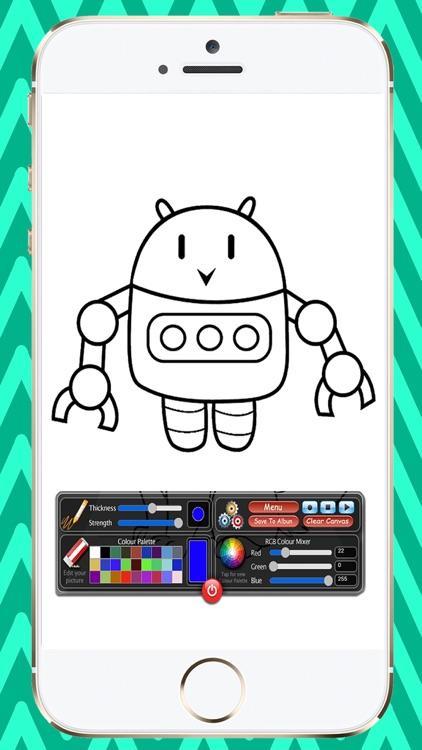 Coloring Book Robots screenshot-3