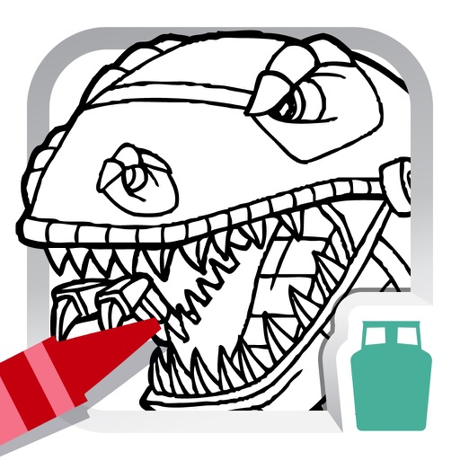Dino Robot Coloring Book for Kids - Free Fun Painting Games ...
