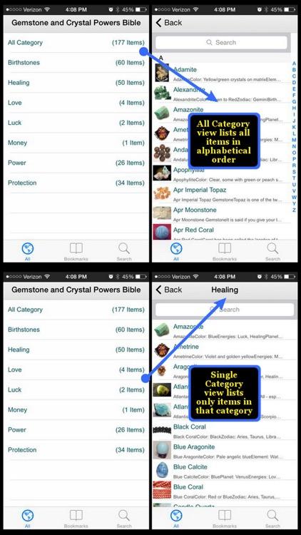 Gemstone & Crystal Powers Bible screenshot-4