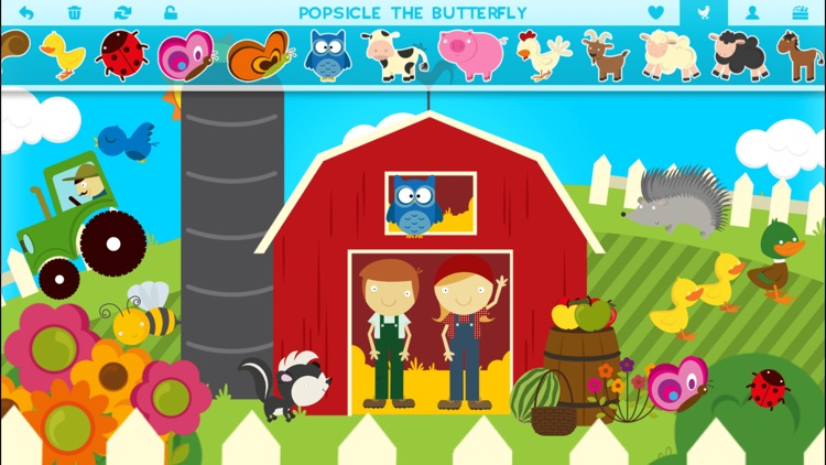 Farm Story Maker Activity Game for Kids and Toddlers Free