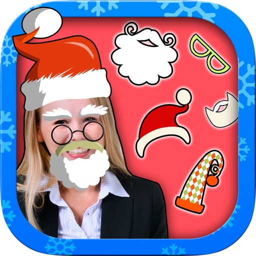 Christmas photo editor - photo stickers of Santa Claus and Christmas