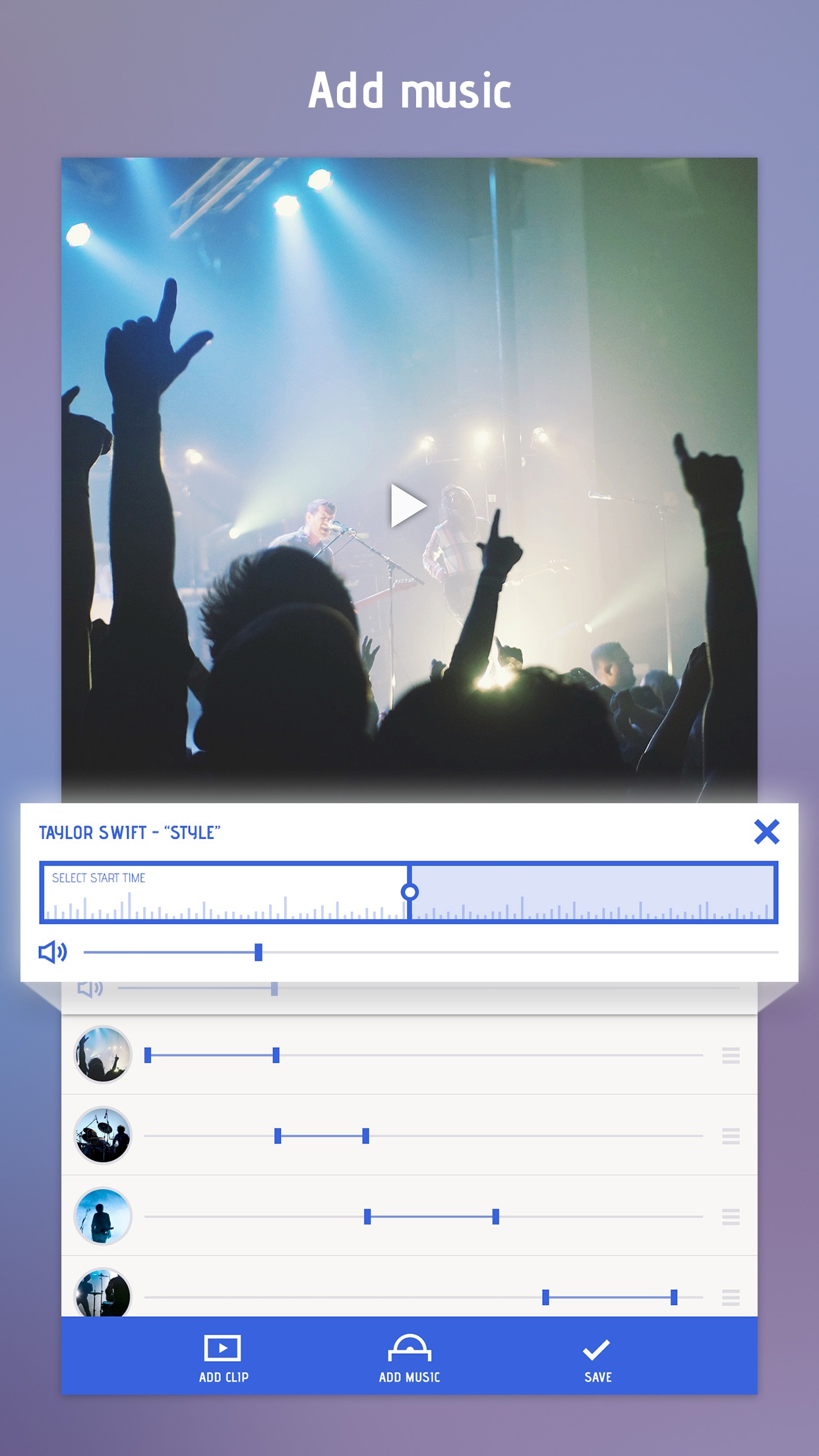 Combine Videos and Stitch Clips Together with Video Slideshow Screenshot