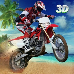 Crazy Motorcycle Beach Stunt Jumps 3D