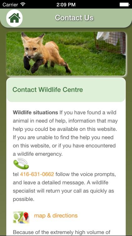 Wildlife Help - Toronto Wildlife Centre Rescue Injured, Sick & Orphaned Wild Animals screenshot-3